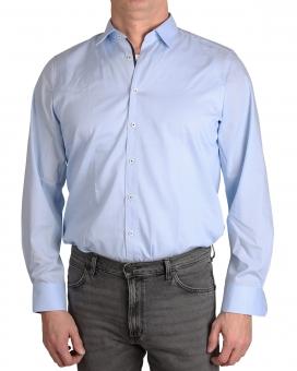 MARVELiS-Hemd 7502-34-11 BODY-FIT langarm bleu
