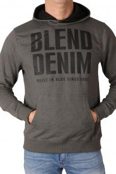 BLEND Herren Kapuzensweatshirt 20702047-75112 Raven Grey
