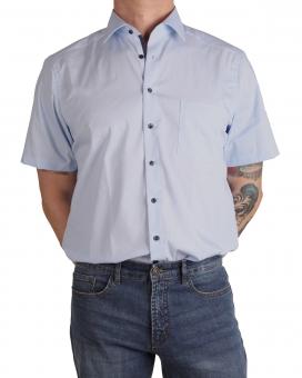 MARVELiS-Hemd 7225-12-11 Modern-FIT halbarm blue