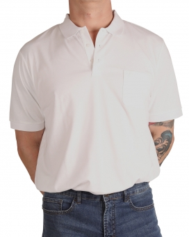 MARVELiS 6420-12-00 Funktions Polo T-Shirt weiss
