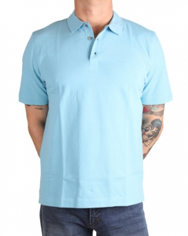 MARVELiS 6421-12-74 Pique Polo T-Shirt halbarm sky
