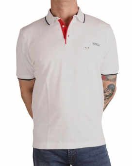 MARVELiS 6422-12-00 Pique Polo T-Shirt Stickerei weiß
