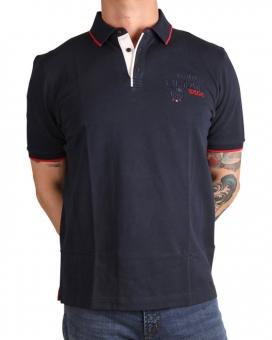 MARVELiS 6422-12-18 Pique Polo T-Shirt Stickerei marine