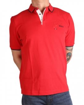 MARVELiS 6422-12-35 Pique Polo T-Shirt Stickerei rot