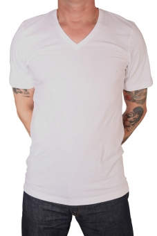 MARVELiS 2820-00-00 BODY FIT T-Shirt V-A weiß