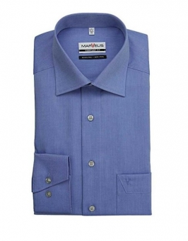 MARVELiS-Hemd 7959-64-13 blau langarm New-Kent Kragen