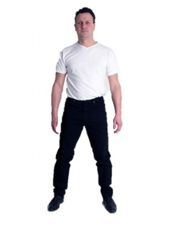 BUCK`s - BJ26 Twill-black Röhrenjeans London-Slim