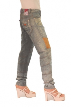 BUCK`s - LOHAS BJ85 Limited No.24 Öko Röhrenjeans 27/30 blue -Miss twy-