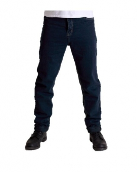BUCK`s Unisex-Jeans BJ26 black-denim Röhrenjeans London-Slim