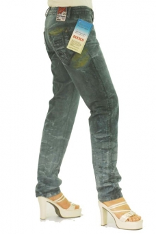 BUCK`s - LOHAS BJ109 Limited No.48 Öko Röhrenjeans 29/31 blue -Green Lin Cotton-