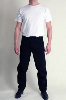 BUCK`s BJ25 Keilformjeans Twill-black Newton-Slim