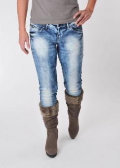 BLEND - She SKY 6512-864 Stretch Röhren-Jeans blue-used
