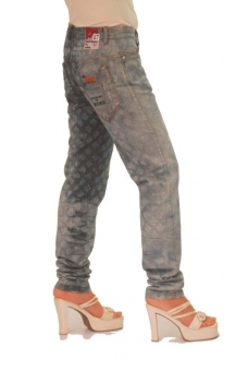 BUCK`s - LOHAS BJ91 Limited No.30 Öko Röhrenjeans 27/32 blue -Miss twy-