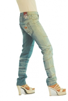 BUCK`s - LOHAS BJ71 Limited No.10 Öko Röhrenjeans 28/32 blue -Miss twy-