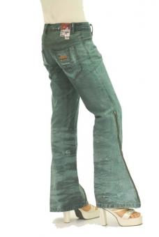 BUCK`s - LOHAS BJ77 Limited No.16 Öko Röhren/Schlag Jeans 29/31 blue -Miss twy-