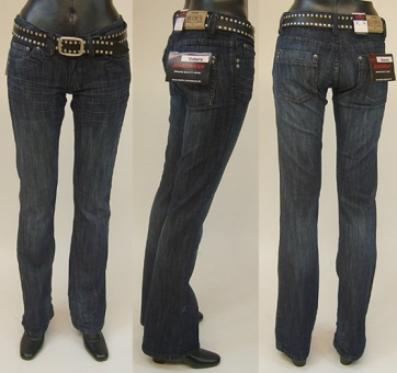 BUCK`s  BJ12 Girls-Hüft-Jeans rinsed-used Style-Valerie