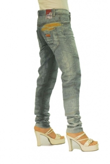 BUCK`s - LOHAS BJ83 Limited No.22 Öko Röhrenjeans 27/32 blue -Miss twy-