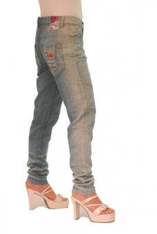 BUCK`s - LOHAS BJ84 Limited No.23 Öko Röhrenjeans 27/32 blue -Miss twy-