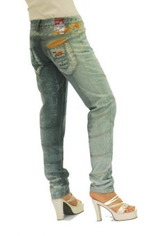 BUCK`s - LOHAS BJ78 Limited No.17 Öko Röhrenjeans 29/32 anthra. -Miss twy-