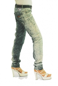 BUCK`s - LOHAS BJ63 Limited No.2 Öko Röhrenjeans 28/32 blue -Miss twy-