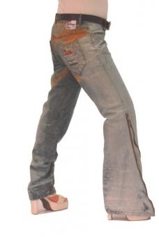 BUCK`s - LOHAS BJ97 Limited No.36 Öko Röhren/Schlag Jeans 31/31 blue -Miss twy-