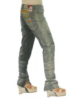 BUCK`s - LOHAS BJ89 Limited No.28 Öko Röhrenjeans 27/30 blue -Miss twy-