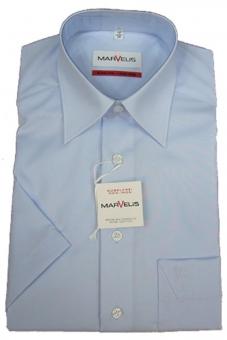 MARVELiS-Hemd 7970-12-11 hellblau halbarm