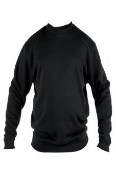 Rockford KS1616 Sweatshirt uni schwarz Rundhals in Übergrößen