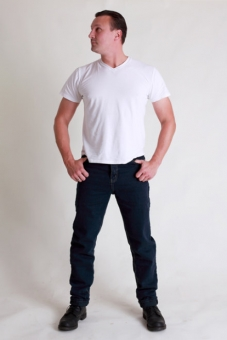BUCK`s Unisex-Jeans BJ26 black-denim Röhrenjeans London-Slim