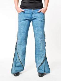 BUCK`s - LOHAS BJ59 Öko Röhren/Schlag Jeans blue-used -Miss twy-
