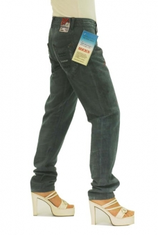 BUCK`s - LOHAS BJ123 Limited No.56 Öko Röhrenjeans 27/32 blue -Green Lin Cotton-
