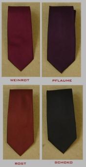 Seiden Krawatte MARK7 uni 100% Seide