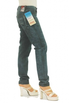 BUCK`s - LOHAS BJ111 Limited No.50 Öko Röhrenjeans 29/31 dark -Green Lin Cotton-