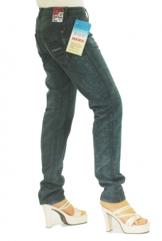 BUCK`s - LOHAS BJ108 Limited No.47 Öko Röhrenjeans 29/31 dark -Green Lin Cotton-
