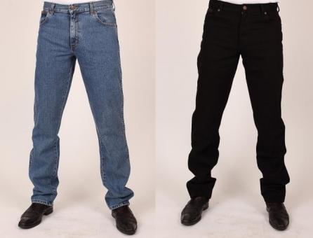 WRANGLER Jeans TEXAS W121 blau+schwarz 100% Baumwolle