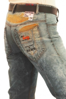 BUCK`s - LOHAS BJ62 Limited No.1 Öko Röhrenjeans 28/30 blue -Miss twy-