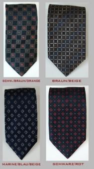 Seiden Krawatte MARK7 mit Muster 100% Seide