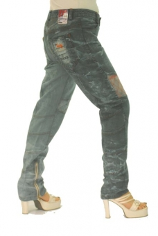 BUCK`s - LOHAS BJ101 Limited No.40 Öko Röhrenjeans 31/30 blue -Miss twy-