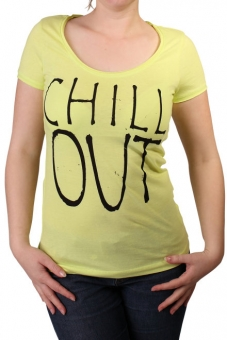 BlendShe 200499-27010 Damen T-Shirt Druck Sunny Lime