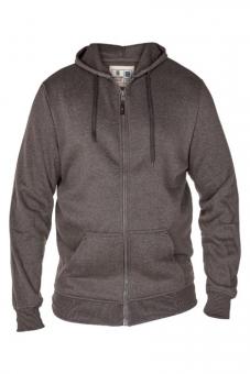 Rockford KS1609 Kapuzen Sweat-Jacke grau-mel. in Übergrößen
