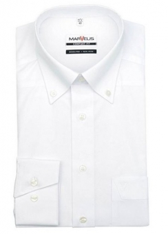 MARVELiS-Hemd 7971-64-00 weiss langarm Button Down