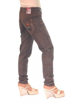 BUCK`s - LOHAS BJ88 Limited No.27 Öko Röhrenjeans 27/32 anthra. -Miss twy-