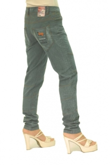 BUCK`s - LOHAS BJ86 Limited No.25 Öko Röhrenjeans 27/32 blue -Miss twy-