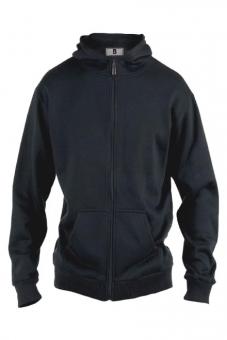 Rockford KS1609 Kapuzen Sweat-Jacke schwarz in Übergrößen