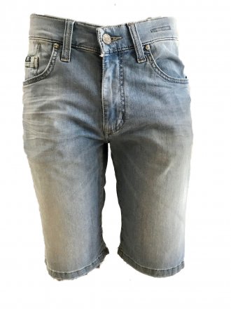 PIONEER Megaflex Jeans Denim Stretch-Bermuda 1327-9766-375 bleached W31