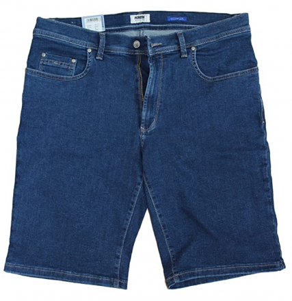 PIONEER Megaflex Jeans Denim Stretch-Bermuda 1351-9759-04 dark stone W31