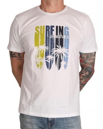 MARVELiS Herren T-Shirt 6606-32-00 R-A bedruckt weiß 48/S