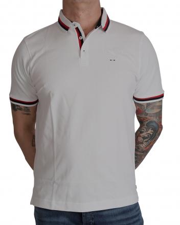 MARVELiS 6412-32-00 Pique Polo T-Shirt halbarm weiß