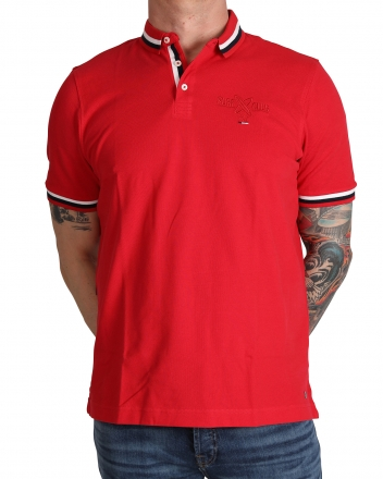 MARVELiS 6412-32-33 Pique Polo T-Shirt halbarm ziegelrot