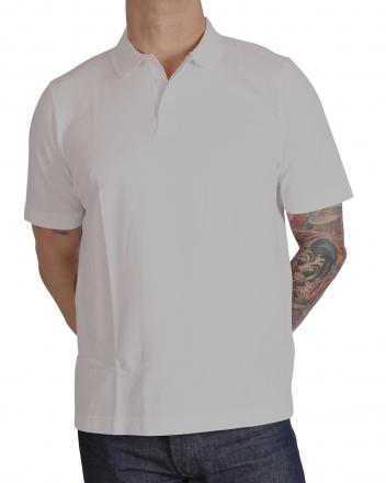 MARVELiS 6411-32-00 Pique Polo T-Shirt uni halbarm weiß 48/S